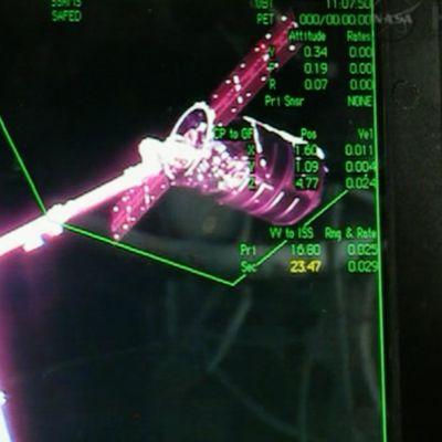 Yhdysvaltalainen Cygnus-avaruusalus telakoitui tänään 29. syyskuuta 2013 kansainväliseen avaruusasemaan.
