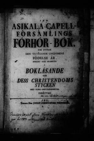 Förörsbok Asikkala 1800-talet
