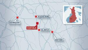 Det i Kuortane belägna vattenfyllda dagbrottet Kaatiala.