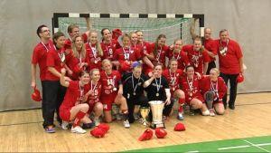 HIFK handbollsdamer vann sitt tredje raka guld