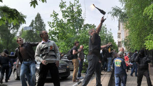 Demonstranter i Donetsk