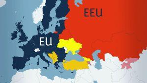 Karta över EU- och EEU-länder