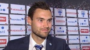 Tim Sparv spelade 90 minuter mot Tjeckien.