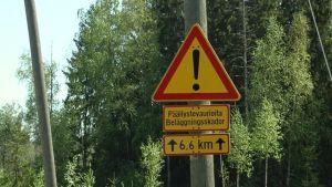 Varning för beläggningsskador