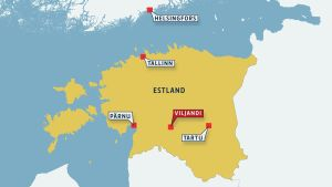 Karta över Estalnd