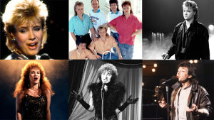 Kooste Suomen Euroviisukarsintojen voittajista 1983-1988.
