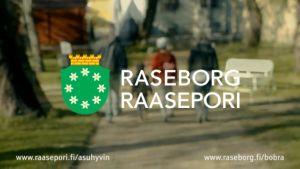 En bild ur Raseborgs reklam som synts på bland annat biografer.