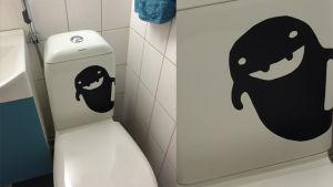 Pikku Kakkonen: WC-pönttötarra