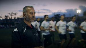 Ossamah Abdul Mohsen på fotbollsplanen i Getafe, Madrid