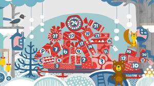 Pikku Kakkosen joulu 2015 netissä ja sovelluksessa