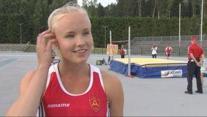 Elin Pajunen, silver i höjdhopp SFIM 2016