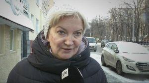 Rysk kvinna som snart blir pensionär