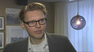 Porträtt på Per-Arne Sandegren, analyschef på Svensk Mäklarstatistik