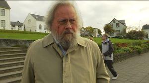 Gudmund Gudmundsson i Island är inte rädd för vulkanutbrott