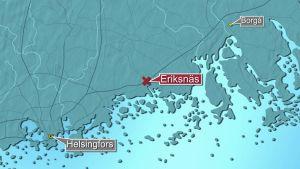 Karta över Sibbo