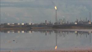 Ett oljeraffinaderi i Venezuela