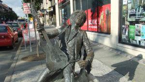 Jimi Hendrix staty i Seattle