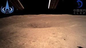 Bild tagen av den kinesiska månlandaren Chang'e 4.
