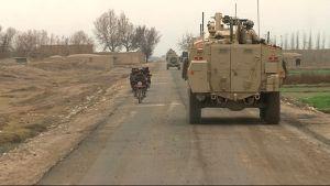 Finländska fredsbevarare patrullerar i Afghanistan, 2014.