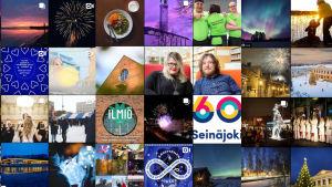 Vaasan, Seinäjoen ja Kokkolan kaupunkien Instagram-tilien kuvia