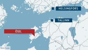 Karta över Ösel.