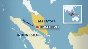 Malaysia ligger mitt i Sydostasien, mellan Malackasundet och Sydkinesiska sjön.