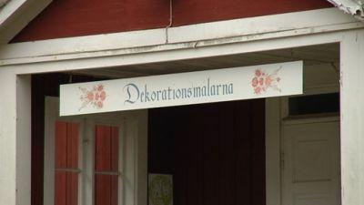 skylt med texten dekorationsmålarna