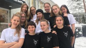 Jämlikhetsgruppe vid Gymnasiet Grankulla samskola.