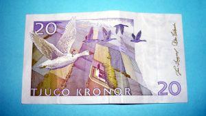 Nils Holgersson 20 kruunun setelissä