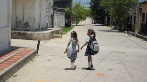 schoolkids in Aracataca