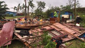 Orakn droh fram över Fiji
