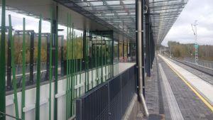 Tågstationen i Veckals.
