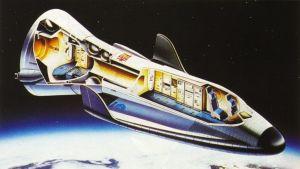 Det föreslagna rymdflygplanet Hermes.