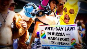 Pride-kulkue Venäjällä