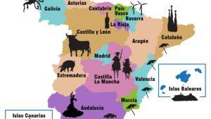 Piirroskartta Espanjan maakunnista