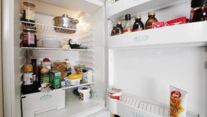 Avattu jääkaappi