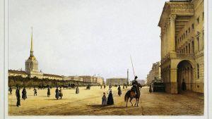 Amiraliteetin aukio Pietarissa, Ferdinand-Victor Perrot 1841