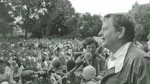 Olof Palme på Almedalsveckan.