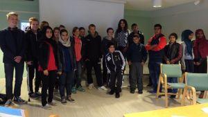 Asylsökande och frivilliga i Nagu
