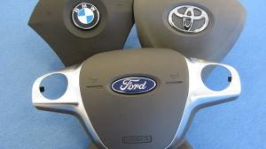 En bild på bildelar som är förfalskade.