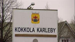 Kokkola-Karleby skylt