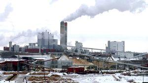 UPM:s pappersfabrik i Kaukas