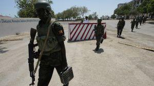 AU-fredsbevarare i Somalia.