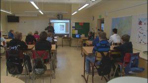 Klass i Korsnäs kyrkoby skola