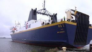 RG1 i hamnen i Vasa