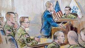 Konstnären återger rättegången