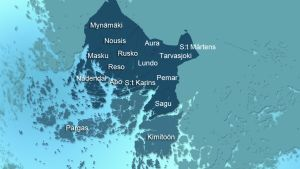 Karta över kommunreformen