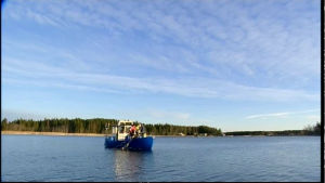 Ute på fisketur