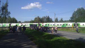 Pendolino tåget mot SEinäjoki gick sönder