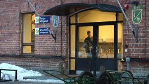 Huvudingång till Pionjärs och Granatkastarkompaniet i Dragsvik